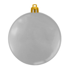 USA Made Custom Christmas Ornaments - Flat Shatterproof - Silver