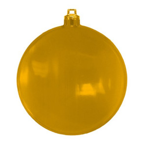 USA Made Christmas Ornament Flat Shatterproof- Translucent Gold