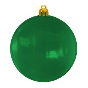 USA Made Christmas Ornament Flat Shatterproof- Translucent Green