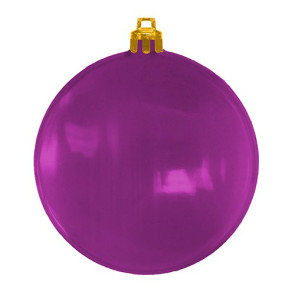 USA Made Christmas Ornament Flat Shatterproof- Translucent Purple