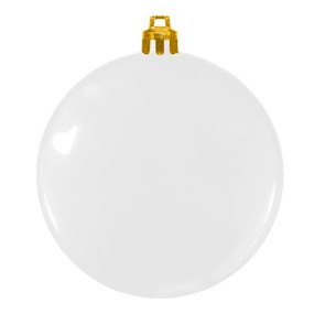 USA Made Christmas Ornament Flat Shatterproof- White Ornament