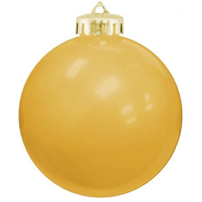 USA Shatterproof Christmas Ball Ornaments - Gold