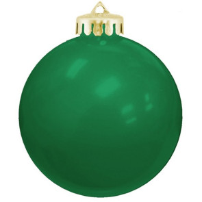 USA Shatterproof Christmas Ball Ornaments -Green