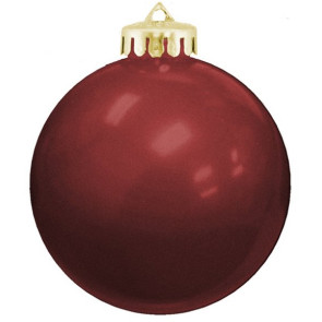 USA Shatterproof Christmas Ball Ornaments -  Maroon