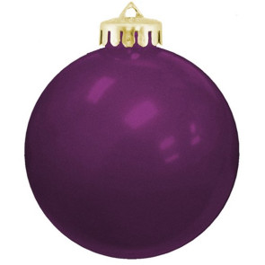 USA Shatterproof Christmas Ball Ornaments - Purple
