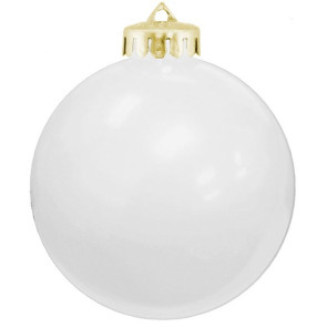 USA Shatterproof Christmas Ball Ornaments -  White