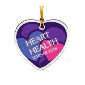 Acrylic Suncatcher Ornament Heart Shape Full Color Imprint