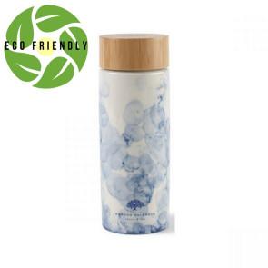 Celeste Bamboo Ceramic Bottle - 10 Oz. Blue Watermark