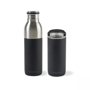 Emery 2-in-1 Double Wall Stainless Bottle - 20 Oz. Matte Black