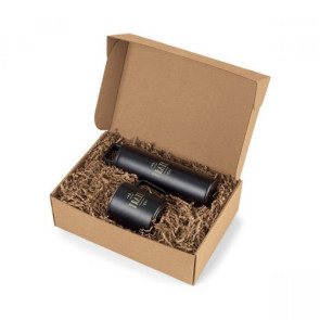 MiiR Wide Mouth Bottle & Camp Cup Gift Set Black Powder