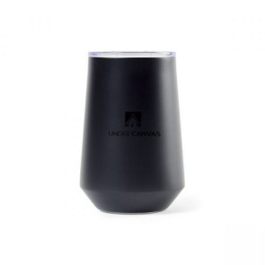 Aviana Clover Double Wall Stainless Wine Tumbler - 12 Oz. Matte Black