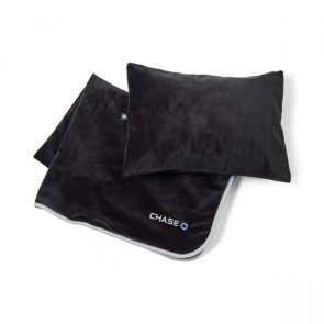 Samsonite Travel Inflatable Pillow and Blanket Gift Set - Black