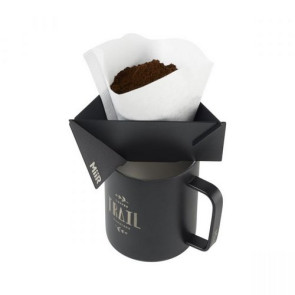 MiiR Pourigami - Portable Travel Coffee Dripper - Black Powder