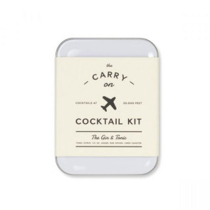 W&P Gin & Tonic Carry On Cocktail Kit White