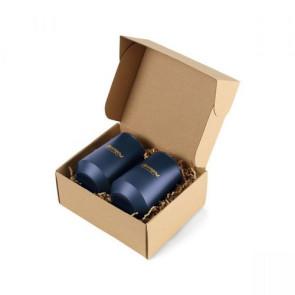 Aviana Clover Stainless Wine Tumblers Gift Set - Matte Navy
