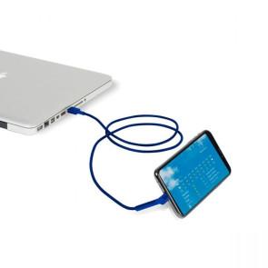 Side Kick Charging Cable - Royal Blue