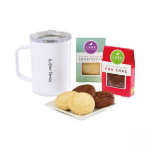 Corkcicle Sip & Indulge Cookie Gift Set - White