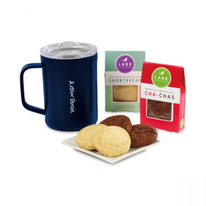 Corkcicle Sip & Indulge Cookie Gift Set - Gloss Navy