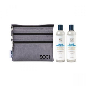 Soapbox Hand Sanitizer Duo Gift Set - Heather Grey