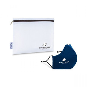 Reusable Face Mask and Storage Pouch Kit - Navy