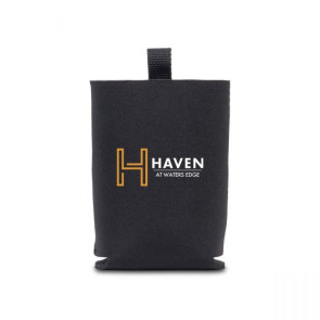 Neoprene Hand Sanitizer and Can Cooler Sleeve - Black