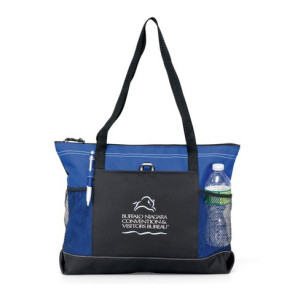 Select Zipper Tote Bag - Royal Blue