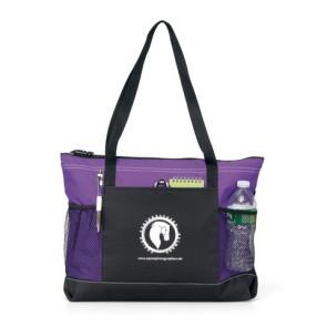 Select Zipper Tote Bag - Purple