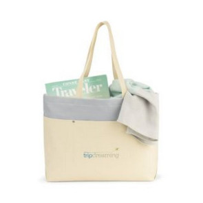 Santorini Wipeable Interior Tote Natural/Glacial Grey