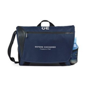 Sawyer Computer Messenger Bag Navy Blue