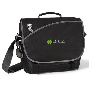 Freestyle Computer Laptop Messenger Bag - Black