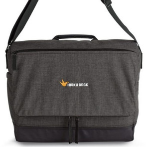 Heritage Supply Tanner Computer Messenger Bag Charcoal Heather/B