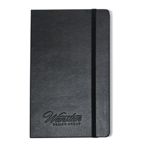 Moleskine  Hard Cover Plain Large Notebook - Black