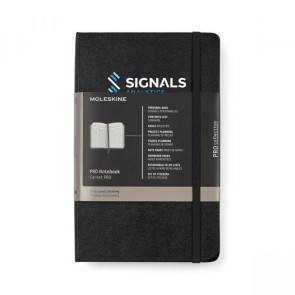Moleskine  Hard Cover Ruled Large Professional Notebook Black