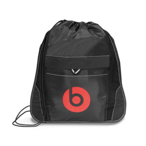 Elite Sport Cinchpack with Insulated Pocket - Black
