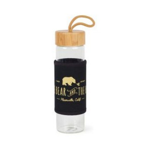 Serenity Bamboo Glass Bottle - 18.5 Oz. Black