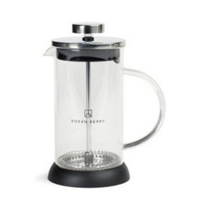 Barista Glass Coffee Press - 12 Oz. Black
