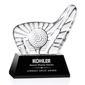 Dougherty Golf Award (S) - Black Base 4 1/2 in  W
