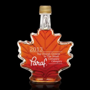 Maple Syrup Custom Etched-  Maple Leaf Design 250ml
