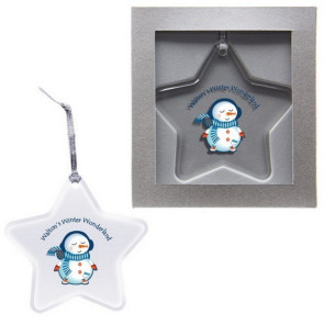 Star Shape Acrylic Custom Ornament