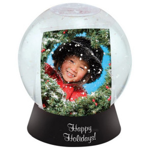 Sphere Snow Globe Clear with a Black Base
