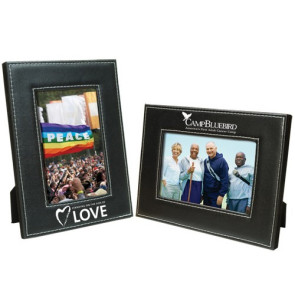 5 x 7 Leatherette White Stitch Frame
