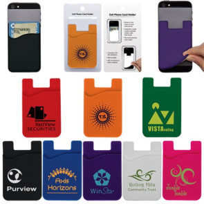 Cell Phone Credit Card Holder with Packaging