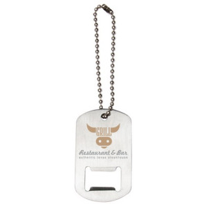 Dog Tag Bottle Opener Keytag