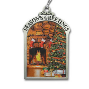 3D Gallery Print Collection Season's Greetings Hearth Mini Ornament