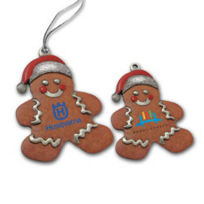 3D Gallery Print Gingerbread Man Ornaments (Mini Size Laser Imprinted)