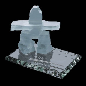 Inukshuk on Jade - Frosted 2.5 in.