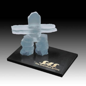 Inukshuk on Marble - Frosted 6 in.