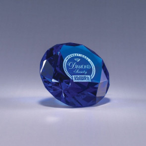 Diamond Paperweight - Blue