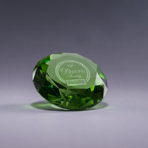 Diamond Paperweight - Green