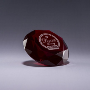 Diamond Paperweight -Red
